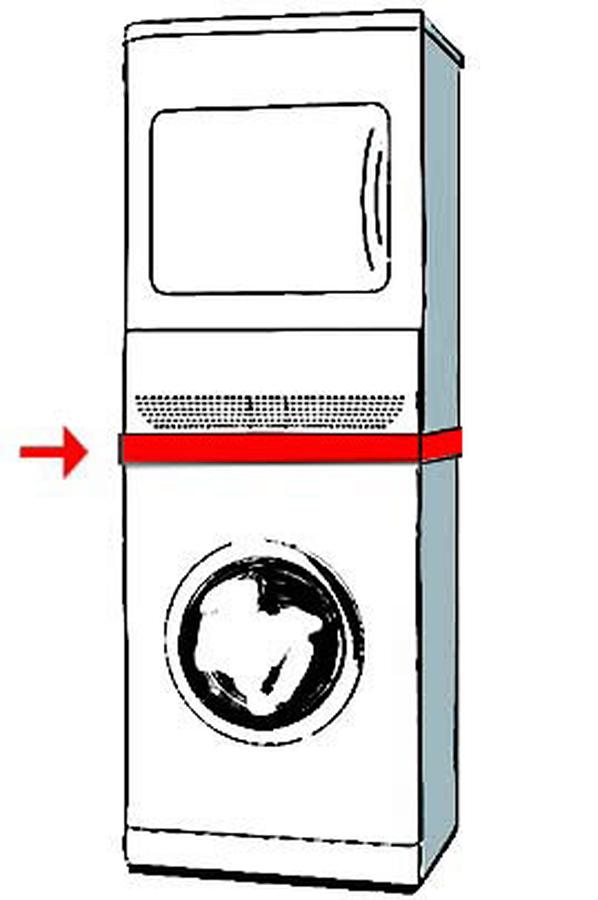 Kit de superposition indesit brkt 36054 1992180 darty - Meuble lave linge seche linge ...