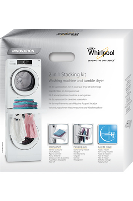 Kit de superposition whirlpool sks200 4134001 - Superposition lave linge seche linge ...