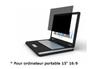 """Accessoire pour portable Filtre de confidentialité pour ordinateur 15"""" 16:9 Port"""