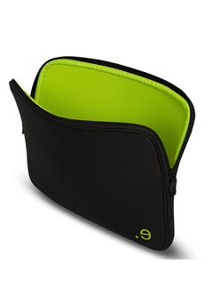 """Sacoche pour ordinateur portable Housse LA Robe noire et verte pour Mac Book Air / Pro 13"""" ou PC 13"""" Be.ez"""