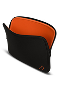 """Sacoche pour ordinateur portable Be.ez Housse LA Robe noire et orange pour Mac Book Air / Pro 13"""" ou PC 13"""""""