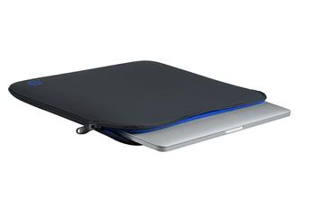 """Sacoche pour ordinateur portable Housse La Robe grise et bleue pour MacBook 12"""" ou Microsoft Surface 3 Be.ez"""