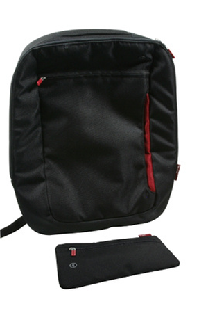 nouveau style bff1d 047cd SAC A DOS JET BLACK/RED 17