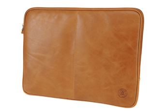 "Sacoche pour ordinateur portable SLEEVe en CUIR golden tan 14"" D Bramante"