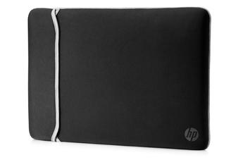 7398f60cd4 Sacoche pour ordinateur portable Housse de protection réversible noire et  argent pour ordinateur portable jusqu'