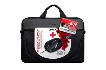 """Sacoche pour ordinateur portable Pack sacoche Liberty pour ordinateur portable 17,3"""" + souris + carte cadeau Legendairs Port"""