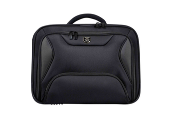 "Sacoche pour ordinateur portable Sacoche Manhattan Clamshell grise 15,6"" Port"