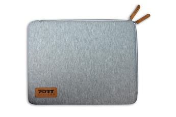 "Sacoche pour ordinateur portable Sleeve skin universelle grise pour ordinateur portable 13.3-14"" Port"