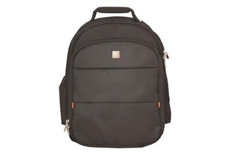 Sacoche pour ordinateur portable Urban Factory Sac à dos en nylon noir pour ordinateur portable 17,3