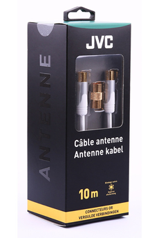 Cable video Câble coaxial 10m blanc gold Jvc