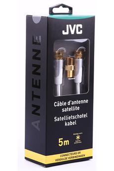 Cable video Câble sat F 5M blanc gold Jvc