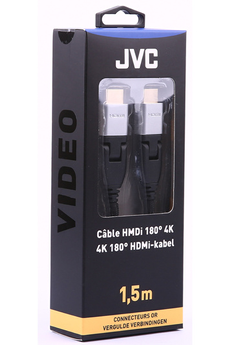 Cable video CORDON HDMI 4K 90° 1,5M GOLD Jvc
