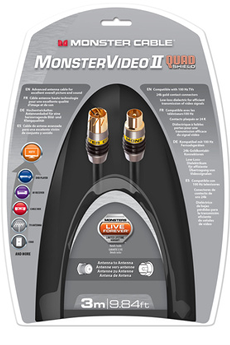 Cable video QUAD PCX 3M Monster