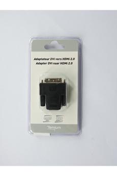 Connectique Audio / Vidéo Temium Adaptateur Sinox DVI vers HDMI Noir