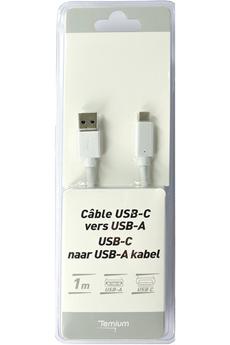 Connectique Audio / Vidéo Temium Câble USB 3.0 (mâle) vers USB A (mâle) - 1M