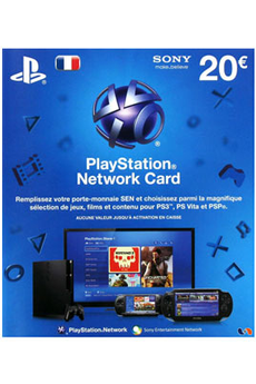 Accessoires PS3 PlayStation Network LiveCard 20€ (PS4/PS3/PS Vita) Sony