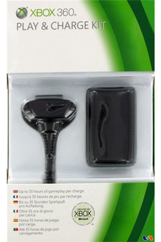 Accessoires Xbox 360 PLAY & CHARGE KIT Microsoft