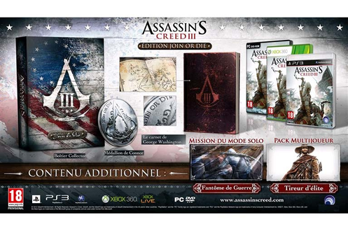 Ubisoft ASSASSIN'S CREED 3 EDITION JOIN OR DIE