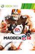 Jeux Xbox 360 MADDEN NFL12 Electronic Arts