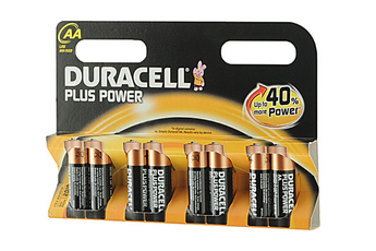 Pile LR06 AA x8 PLUS POWER Duracell
