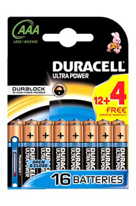 Pile Duracell LR03 AAA 12+4 ULTRA POWER