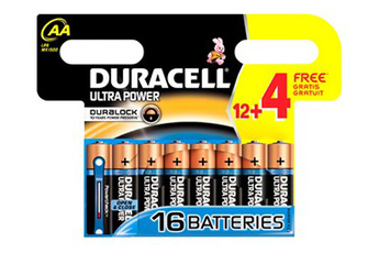 Pile LR06 AA 12+4 ULTRA POWER Duracell