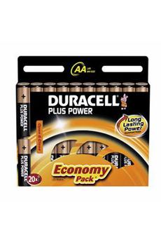 Pile PILAL AA B20 +P X20 Duracell