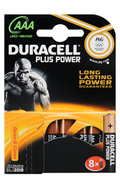 Pile Duracell PLUS POWER LR03 AAA x8