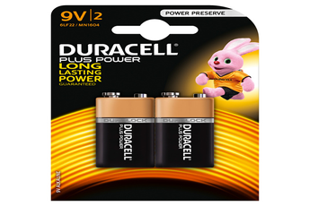 Pile PLUS POWER 9VX2 Duracell