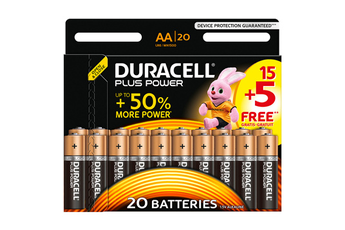 Pile PLUS POWER AA 15+5 Duracell