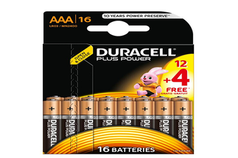 Pile PLUS POWER LR03 AAA 12+4 Duracell