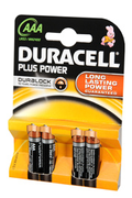 Duracell PLUS POWER AAA LR03 x4