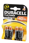 Duracell PLUS POWER AA LR06 x4