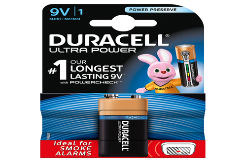 Pile Duracell ULTRA POWER 9VX1
