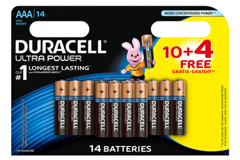 Pile ULTRA POWER AAAX10+4 Duracell