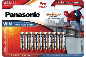 Pile LR03 6+4 SPIDERMAN Panasonic