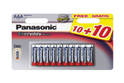 Pile Panasonic LR03 AAA Every Day Power 10+10