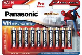 Pile LR6 6+4 SPIDERMAN Panasonic