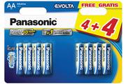 Pile Panasonic LR06 AA 4+4