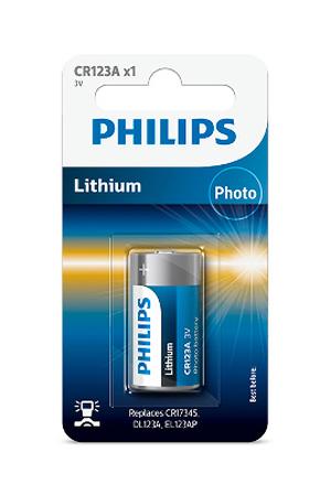 Piles Philips CR123A 3V LITHIUM