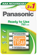Pile rechargeable Panasonic EVOLTA AAA LR03 x4 750 mAh