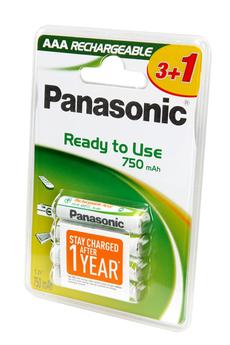 Pile rechargeable EVOLTA AAA LR03 x4 750 mAh Panasonic
