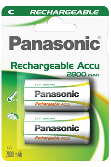 Pile rechargeable HIGH CAPACITY C LR14 x2 2800 mAh Panasonic