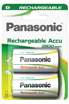 Pile rechargeable HIGH CAPACITY D LR20 X2 2800 mAh Panasonic