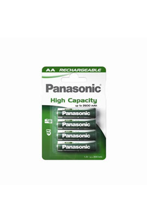pile rechargeable panasonic high capacity lr6 aa x4 2400. Black Bedroom Furniture Sets. Home Design Ideas