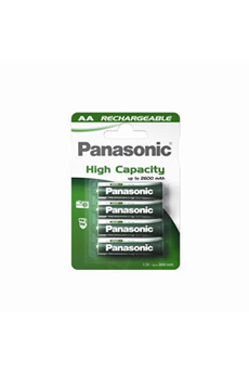 Pile rechargeable HIGH CAPACITY LR6 AA x4 2400 mAh Panasonic