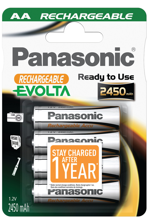 pile rechargeable panasonic evolta aa lr06 x4 2450 mah. Black Bedroom Furniture Sets. Home Design Ideas