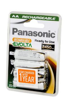 Pile rechargeable EVOLTA AA LR06 x4 2450 mAh Panasonic