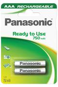 Pile rechargeable Panasonic EVOLTA LR03 X2 750 mAh