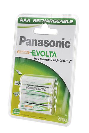 Pile rechargeable Panasonic AAA LR03 x4 750 mAh EVOLTA